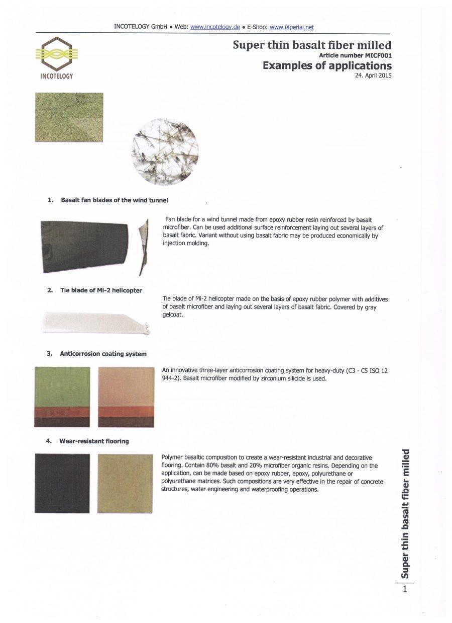 Basalt fibers - Dreytek Inc